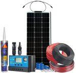 Kit Fotovoltaico Pannello Flessibile 12V 100W Completo di Accessori #N54130200149