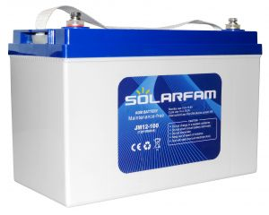 Batteria AGM 12V 100Ah C10 SOLARFAM Solare Eolico Impianti Fotovoltaici #N51120050931