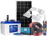 Kit Fotovoltaico 12V 180W Batteria 100Ah Regolatore PWM 30 12/24V #N54130200220