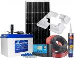 Photovoltaic 12V 180W Kit complete with 100Ah Battery PWM 30A 12/24V Solar Charger #N54130200220
