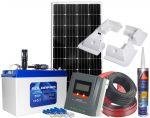 Kit Fotovoltaico 12V 180W Batteria 100Ah Accessori e Regolatore MPPT 20 12/24V #N54130200221