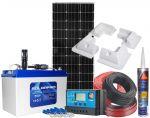 Photovoltaic 12V 100W Kit 100Ah AGM Battery PWM 12/24V 10A Solar Charger #N54130200223