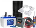 Photovoltaic 12V 100W AGM 100AH Battery MPPT 20 12/24V Solar Charger #N54130200224
