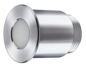 Quick Luci di Cortesia Power LED GAIA 3.5W 10-30V in Inox AISI316 Lucidato #Q25200005