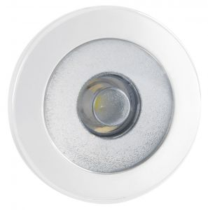 Quick IRENE 0.48W 10-30V LED Courtesy Light in Stainless Steel and White 9010 #Q25200009
