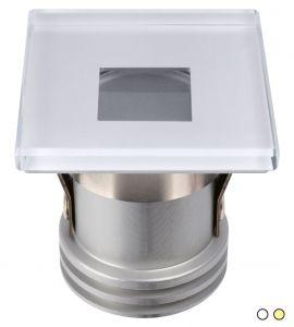 Quick Faretto LED ad Incasso SUGAR LP 3W 10-30V IP65 in Vetro 5mm CO40 #Q25300025