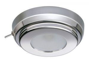 Quick Plafoniera LED TIM CS 2W 10-30V Acciaio Inox Lucido con Interruttore #Q27002423