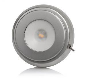 Quick Plafoniera LED TIM CS 2W 10-30V Acciaio Inox Satinato con Interruttore #Q27002424