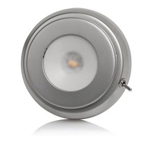 Quick TIM CS 2W 10-30V Satin Stainless Steel LED Ceiling Light with Switch #Q27002424