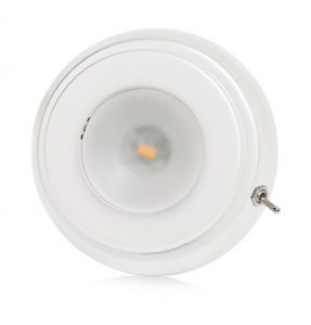 Quick TIM CS 2W 10-30V White 9010 Stainless Steel LED Ceiling Light with Switch #Q27002425