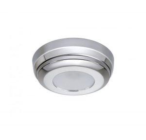 Quick Plafoniera LED MINDY C 2W 10-30V Acciaio Inox Lucido IP40 Ø90mm #Q27002426