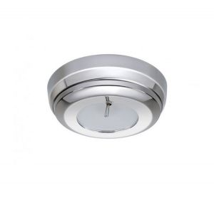 Quick SANDY C 2W 10-30V Polished St.Steel LED Ceiling Light with Switch #Q27002432
