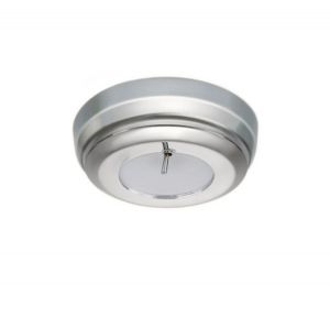 Quick SANDY C 2W 10-30V Satin Stainless Steel LED Ceiling Light w/Switch #Q27002433