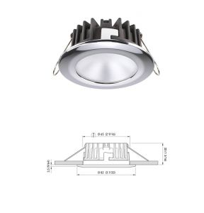 KOR LP LED Recess fit downlight 4W 10V - 30V in Stainless Steel Natural White Light #Q27595300