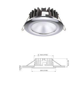 KOR LP Luce LED ad Incasso 4W 10V - 30V in Acciaio inox Colore Bianco Naturale #Q27595300