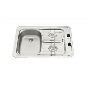 Piani cottura con lavello 60x42cm Vasca destra #FNI2424013