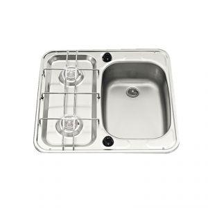 Piani cottura con lavello 49x46cm Vasca sinistra #FNI2424014