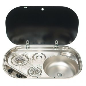 2-burner hob/sink combination with cover 680x142x440mm #FNI2424048