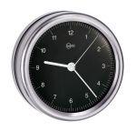 Barigo Quartz Clock Orion series Ø85/102mm Black Dial #OS2808270