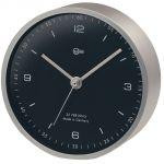 Barigo Pentable Orologio in ottone satinato Ø100/104mm Quadrante nero #OS2808601