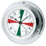 Barigo Star Chrome-plated brass Clock with radio sectors Ø85/110mm #OS2836199