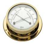 Barigo Star Golden-plated brass Hygrometer with thermometer Ø85/110mm #OS2836203