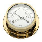 Barigo Star Igrometro con termometro in ottone dorato Ø85/110mm #OS2836203