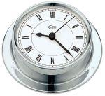 Barigo Regatta Chromed brass Quartz Clock Ø100x120mm White Dial #OS2836501