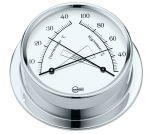 Barigo Regatta Chromed brass Hygro-Thermometer Ø100x120mm White Dial #OS2836503