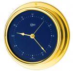 Barigo Regatta Polished brass Quartz Clock Ø100x120mm Blue Dial #OS2836521