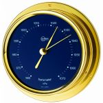 Barigo Regatta Barometro in ottone lucido Ø100x120mm Quadrante blu #OS2836522