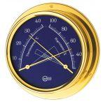 Barigo Regatta Polished brass Hygro-Thermometer Ø100x120mm Blue Dial #OS2836523