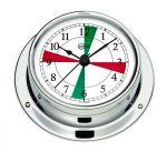 Barigo Tempo S Chromed Clock with radio sectors 88x25mm #OS2868001
