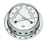 Barigo Tempo S Chromed brass Hygro-Thermometer 88x25mm #OS2868003