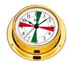 Barigo Tempo S Polished brass Clock with radio sectors 88x25mm #OS2868011