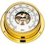 Barigo Tempo S Polished brass Barometer 88x25mm #OS2868012