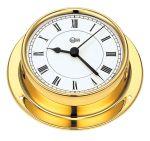 Barigo Tempo M Polished brass Clock with quartz movement 110x32mm #OS2868300