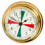 Barigo Tempo M Polished brass Clock with radio sectors 110x32mm #OS2868301