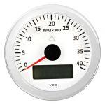 VDO Contagiri 4000 RPM 12/24V Ø85mm Bianco ViewLine #OS2748001