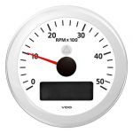 VDO Contagiri 5000 RPM 12/24V Ø85mm Bianco ViewLine #OS2748002