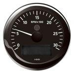 VDO Contagiri 3000 RPM 12/24V Ø85mm Nero ViewLine #OS2758000