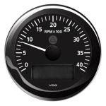 VDO Contagiri 4000 RPM 12/24V Ø85mm Nero ViewLine #OS2758001