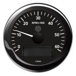 VDO Contagiri 6000 RPM 12/24V Ø85mm Nero ViewLine #OS2758003