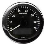 VDO Contagiri 7000 RPM 12/24V Ø85mm Nero ViewLine #OS2758004
