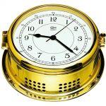 Barigo Polished brass Marine Quartz Clock Ø180x150mm #OS2836103