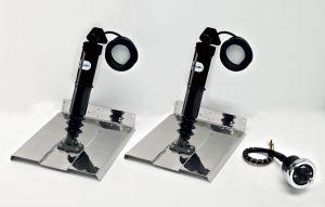 Uflex MTS12-CH Electromechanical Trim Tabs Set 2 actuators AS 12VDC + 1 chrome-plated joystick FLAP #UF43250T