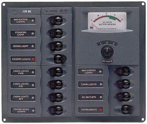 BEP 902A Pannello elettrico 12 Interruttori Magnetotermici con Indicatore 200x239x65mm #UF63128J