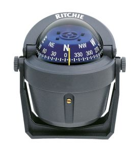 """Ritchie Explorer B-51G 2""""3/4 compass with bracket Grey Blue Dial #UF67318L"""