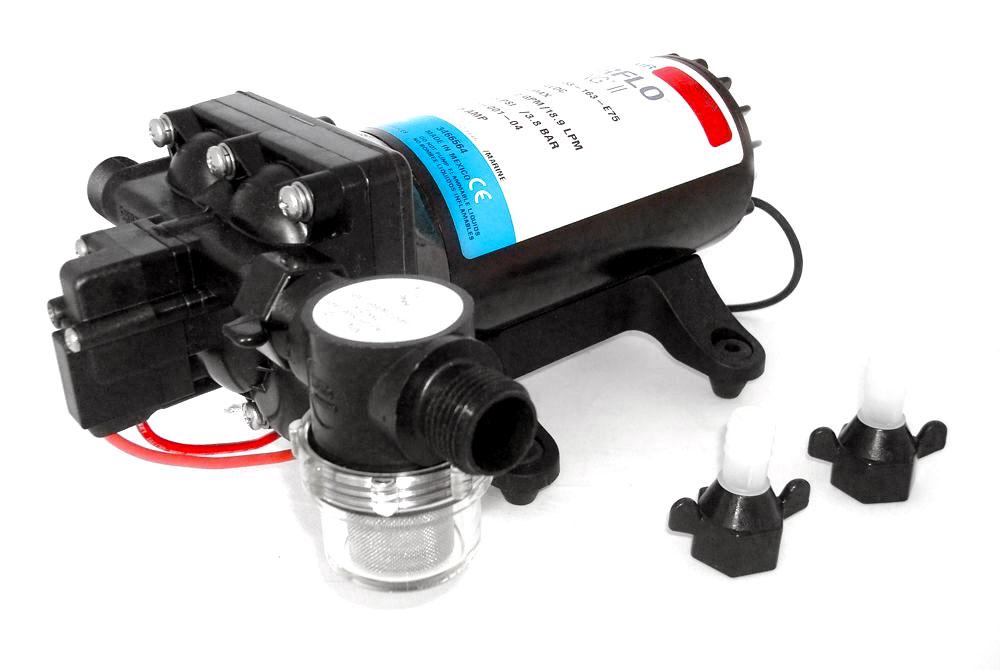 Shurflo Water Pump >> Shurflo Aqua King Ii Supreme Water Pump 5 0 12v 18 9lt Min 3 8bar 55psi Uf68804b