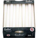 Hofer Candele Coniche Ø23x250mm 7h per candelabri 30Pz Bianco #N400092300061